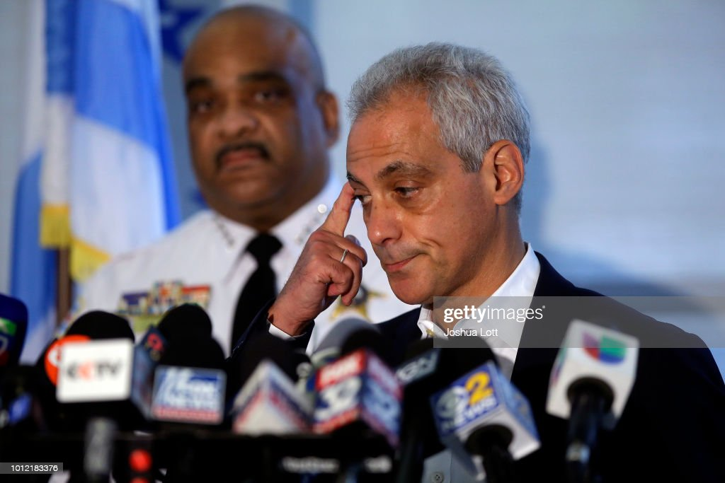 Chicago PD Superintendent Eddie Johnson Holds News Conf. On Record Weekend Shootings : News Photo