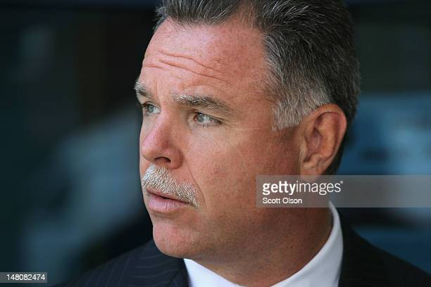 Chicago Police Superintendent Garry McCarthy arrives at a press conference in the Englewood neighborhood on July 9 2012 in Chicago Illinois Mayor...