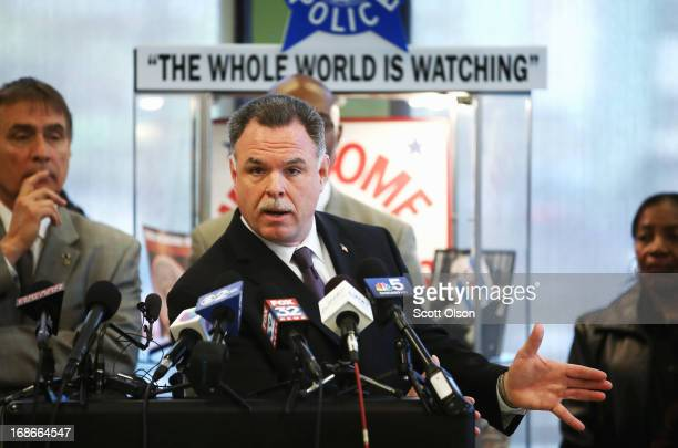 Chicago Police Superintendent Garry McCarthy holds a press conference to announce his department had seized more than 2500 illegal firearms in 2013...