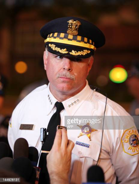 Chicago Police Superintendent Garry McCarthy talks about the clash with police and protesters in Chicago Illinois during the NATO 2012 Summit May 20...
