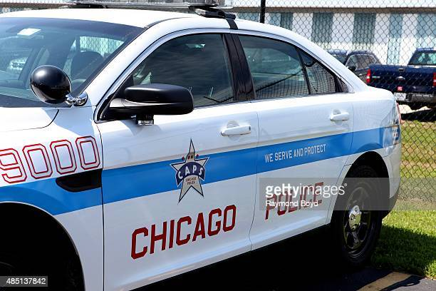 Chicago Police vehicle sits outside the Gary Jet Center on August 13 2015 in Gary Indiana