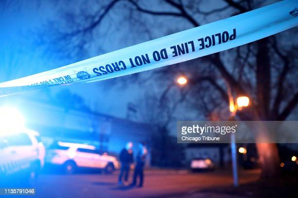 Chicago police work the scene of a shooting in the 6300 block of South Seeley Avenue on Saturday April 6 2019