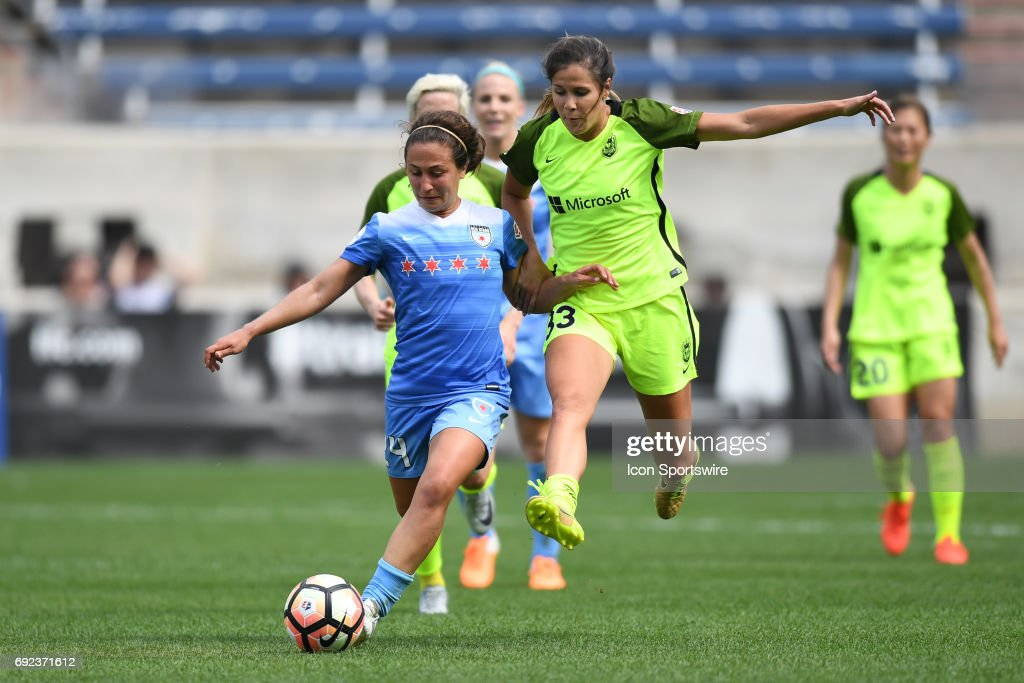 SOCCER: JUN 04 NWSL - Seattle Reign FC at Chicago Red Stars : News Photo