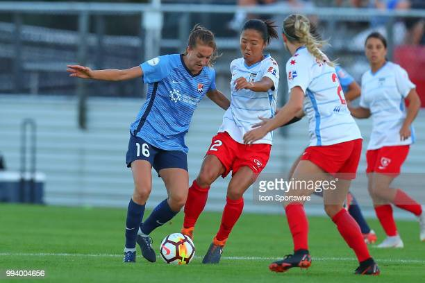 Chicago Red Stars midfielder Yuki Nagasato during the second half of the National Womens Soccer League game between the Chicago Red Stars and Sky...