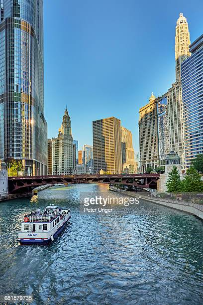Chicago River and cityscape,Chicago