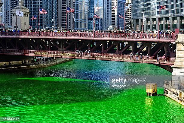Chicago River on Saint Patricks Day, 2014