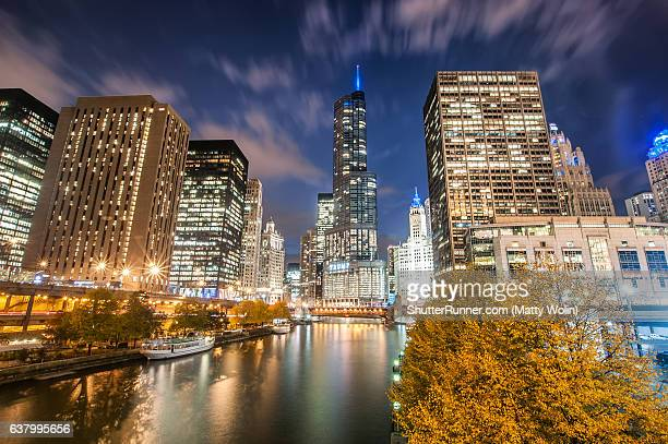 Chicago River Skyline
