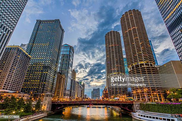 Chicago River Sunset