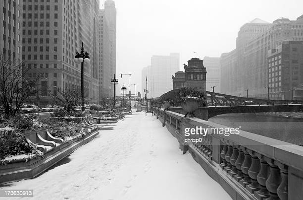 Chicago Riverfront on a Snowy Day