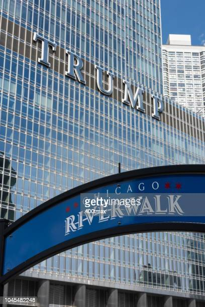 chicago riverwalk - wacker drive stock photos and pictures