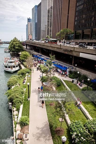 chicago riverwalk - san antonio river walk stock pictures, royalty-free photos & images