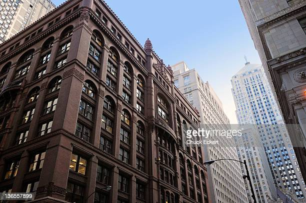 Chicago Rookery Building and Board of Trade.