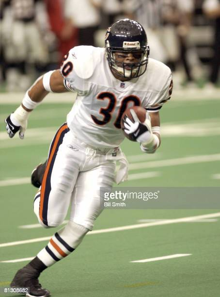 Chicago safety Mike Brown returns an interception 32yards in the Bears 313 win over the Atlanta Falcons on October 07 2001 in the Georgia Dome in...