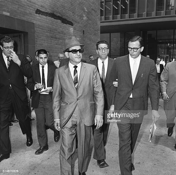 Salvatore Giancana alleged Chicago underworld boss leaves the Federal Building after appearing before a Federal Grand Jury The government is believed...