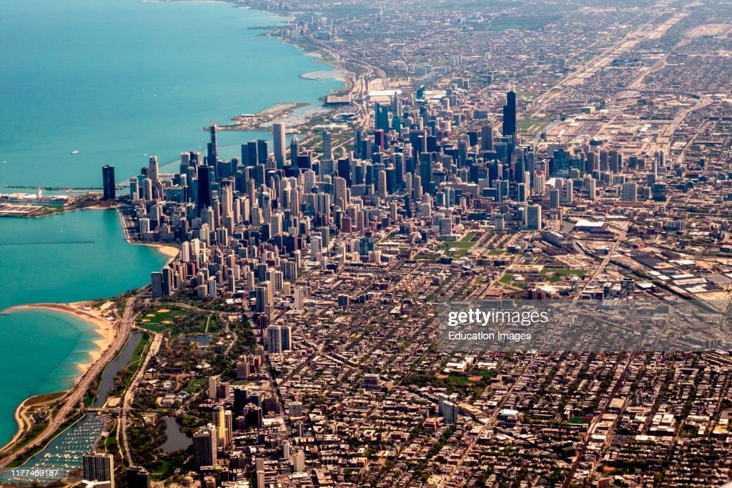 Chicago seen from the air : News Photo