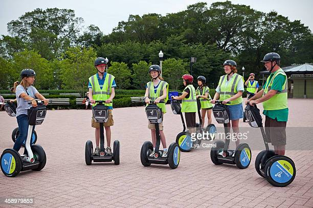 chicago segways - segway stock pictures, royalty-free photos & images