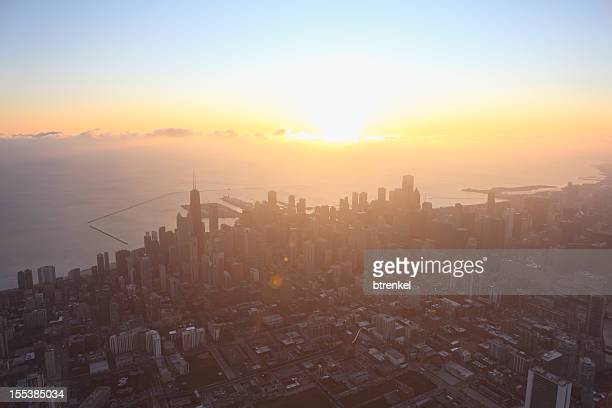 Chicago skyline - aerial