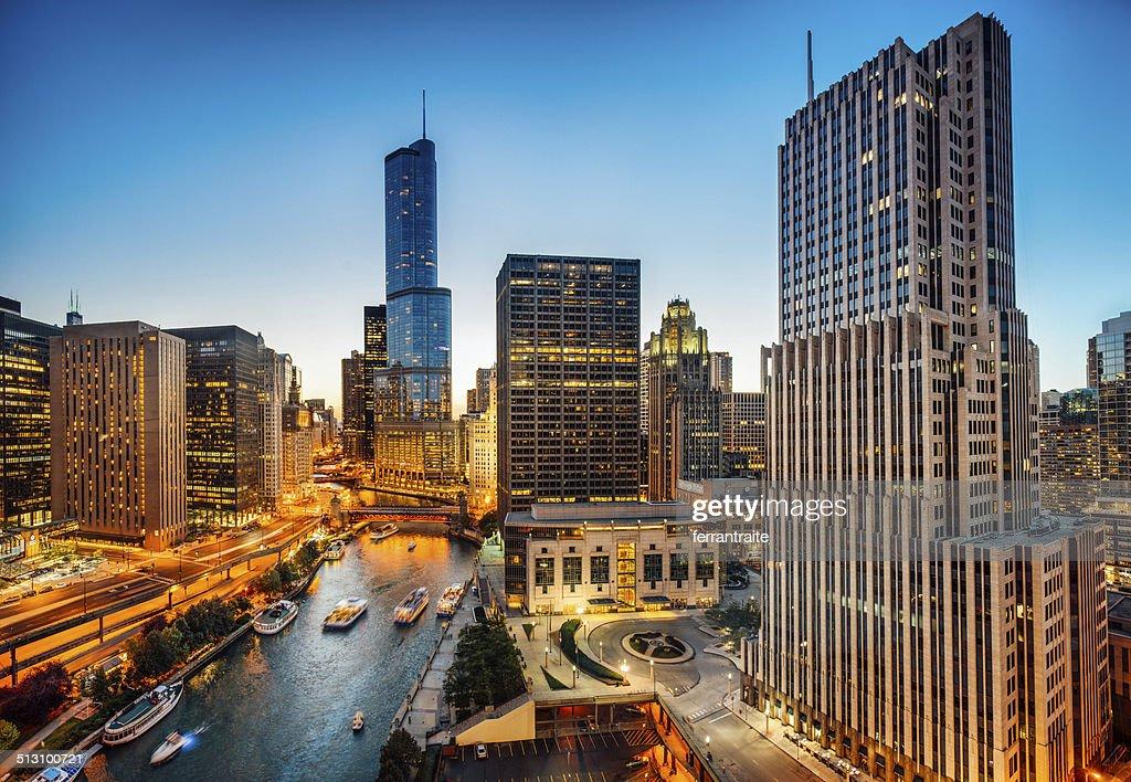 Chicago Skyline Aerial View : Stock Photo