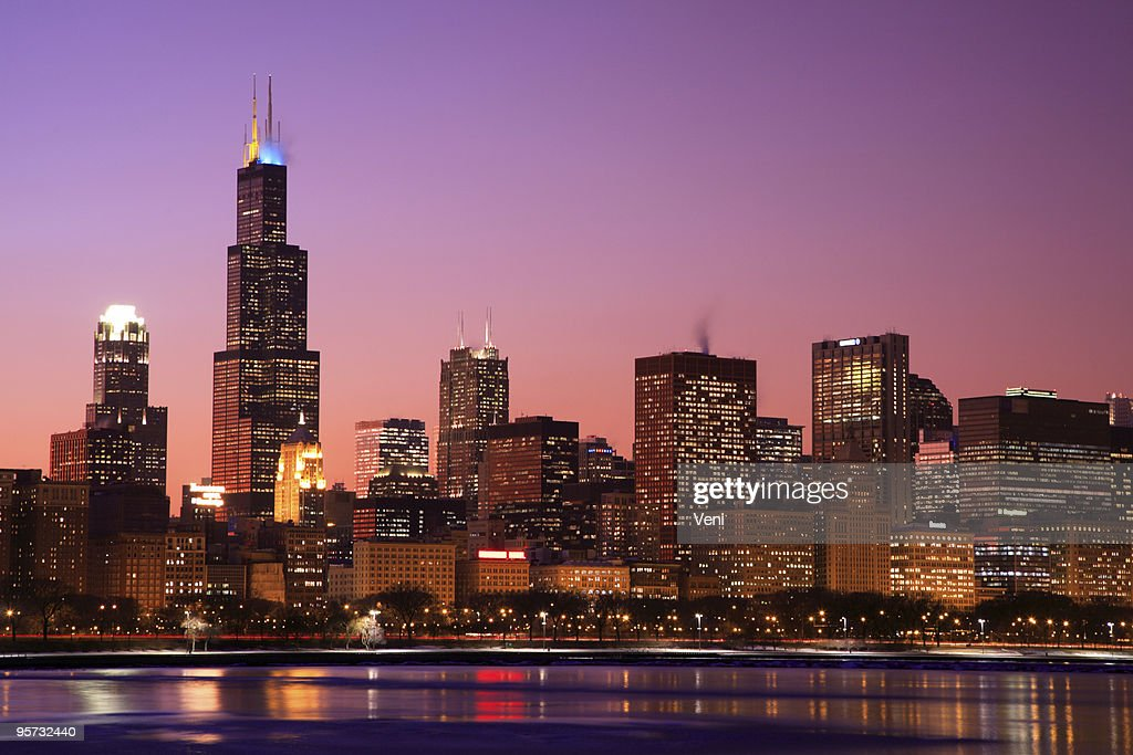 Chicago Skyline, Illinois : Stock Photo