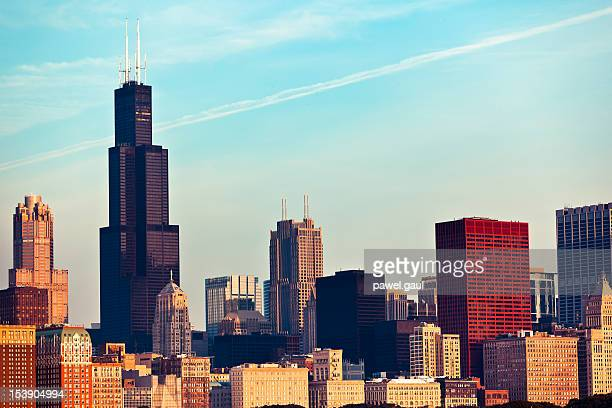 Chicago skyline in morning