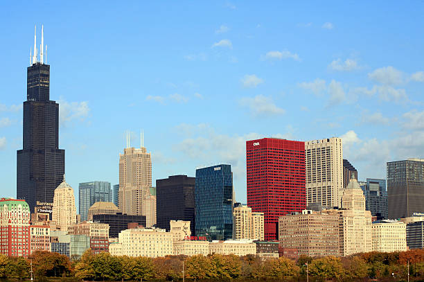 Chicago Skyline including Willis Tower, Chicago,