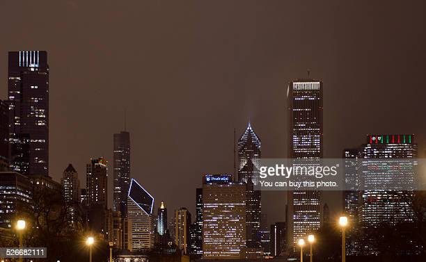 Christmas In Chicago Skyline.World S Best Chicago Christmas Lights Stock Pictures Photos
