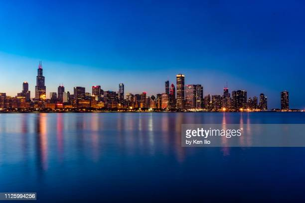 chicago skyline - ken ilio stock photos and pictures