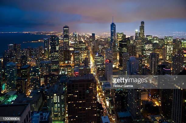 chicago skyline - rolour garcia stock pictures, royalty-free photos & images