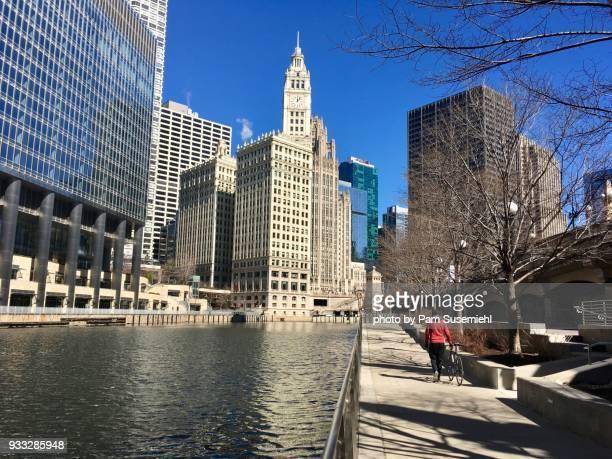 Chicago Skyline, Riverwalk View