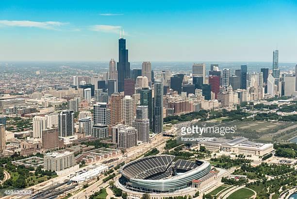 Chicago skyline with Soldier Field stadium