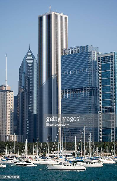 Chicago Skyscrapers and Boats