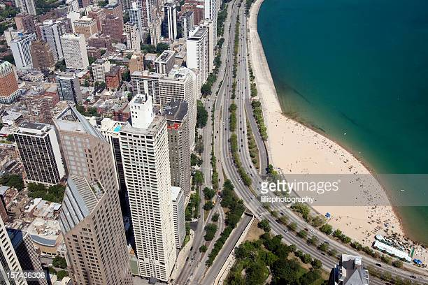 Chicago Skyscrapers and Oak Street Beach