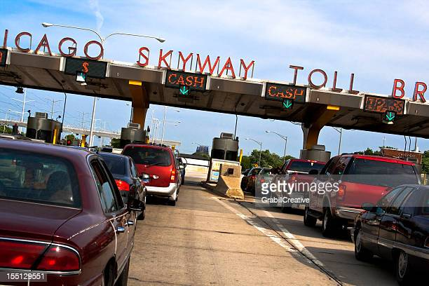 Chicago Skyway Toll Bridge in Heavy Traffic