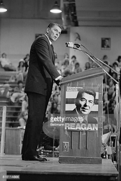 Speaking late at a rally in suburban Elk Grove Village presidential candidate Ronald Reagan lambasted both President Ford and Henry Kissinger on...