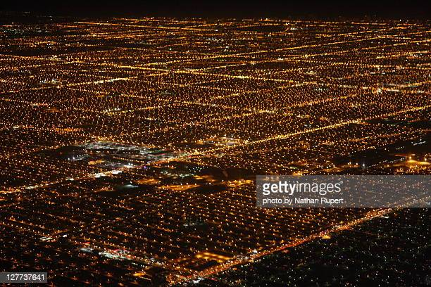 Chicago Suburbs at night