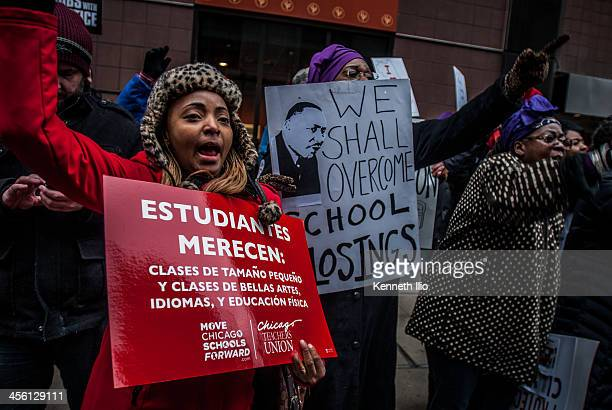 CONTENT] Chicago Teachers Union SIEU Local 1 Stop schools closing protest The Loop Chicago March 27 2013