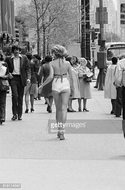 Temperatures were in the high seventies as Debbie Zkwacki strutted down Michigan Avenue in the season's latest fashion fad fanny shorts a name which...
