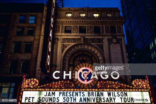 Chicago Theater and historical buildings district in city downtown