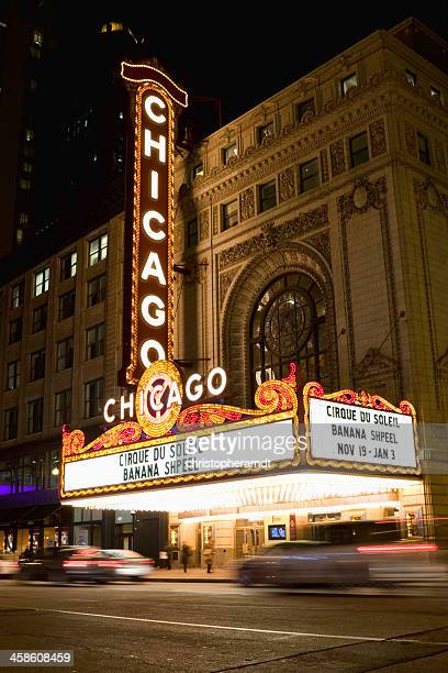Chicago Theater Marquee at Night