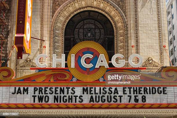 chicago theater marquee - chicago theater stock pictures, royalty-free photos & images