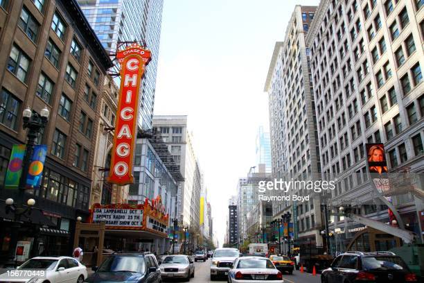 Chicago Theater on State Street, in Chicago, Illiinois on AUGUST 23, 2012.