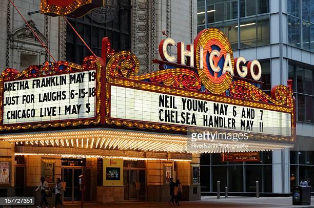 chicago theater - chicago illinois - fotografias e filmes do acervo