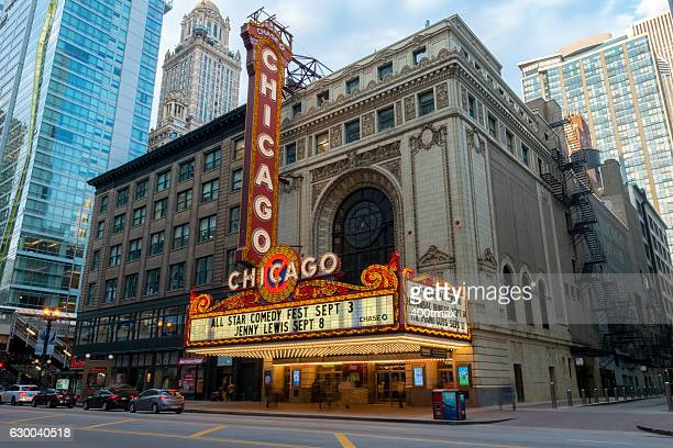 chicago theater - chicago illinois - fotografias e filmes do acervo