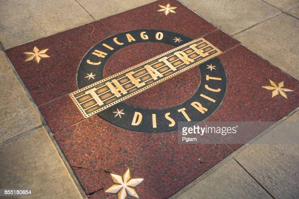 chicago theatre district in downtown illinois usa - chicago theater stock pictures, royalty-free photos & images