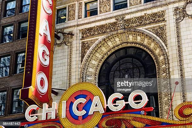 Chicago Theatre Illuminated Sign and Facade