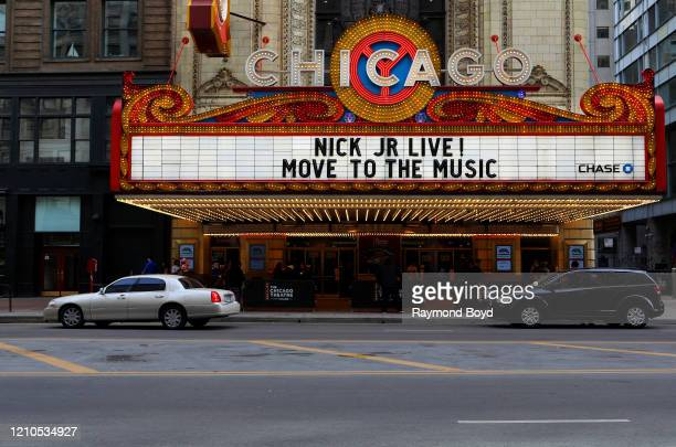 Chicago Theatre in Chicago, Illinois on March 1, 2020.