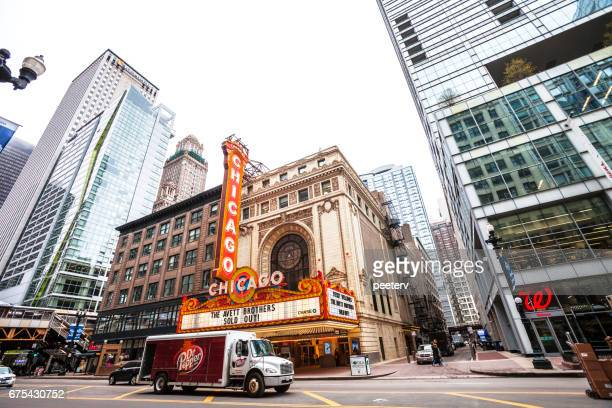 Chicago Theatre in downtown.
