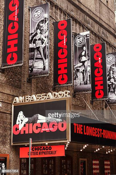 chicago theatre on broadway, new york city - chicago musical stock pictures, royalty-free photos & images