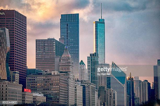 chicago tops - ken ilio stock pictures, royalty-free photos & images