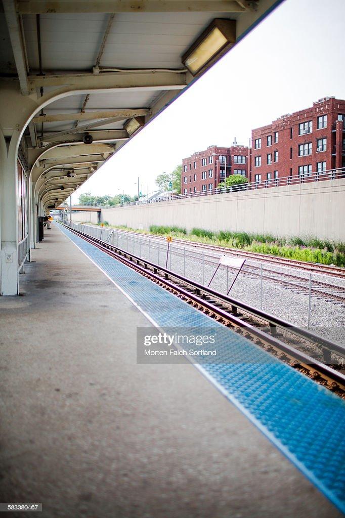 Chicago train station : Stock Photo